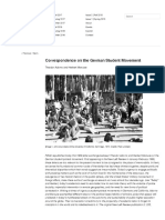 Correspondence on the German Student Movement | FIELD