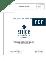 Manual de Servicios Sitio 0 de Quequen S A