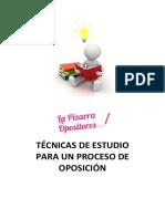 Técnicas de Estudio La Pizarra Opositores_primaria
