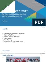 Big Data Machine Learning for Predictive Maintenance
