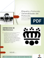 Etiqueta y Protocolo.- CLASE NUMERO 1