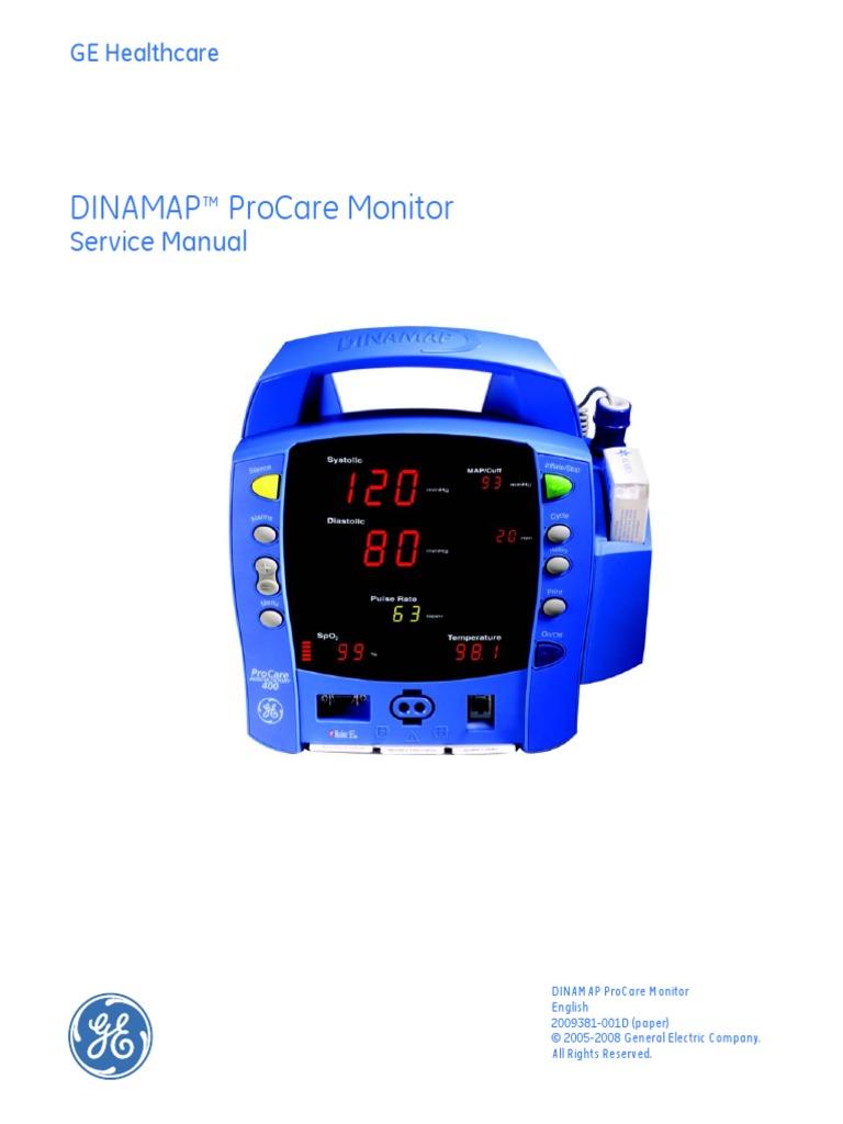 FE - DINAMAP PROCARE - SERVICE MANUAL.pdf | Electromagnetic Compatibility |  Safety