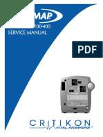 Ge - Dinamap Pro 100-400 - Service Manual
