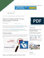 Mewarnai Objek Gambar Fill dan Outline pada CorelDraw ~ GRAFISin _ Tutorial Desain Grafis dan Download Gratisan