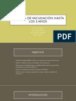 Esquema de Vacunación Hasta Los 5 Años