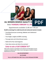 womens day flyer 2018