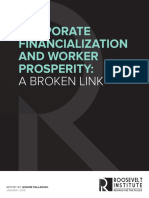Corporate Financialization and Worker Prosperity