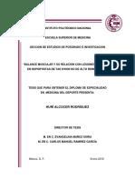Balance Muscular y Relacion Con Lesion de Rodilla en Tkd- Tesis