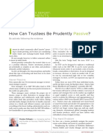 How Can Trustees Be Prudently Passive - Trust & Estates