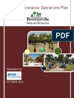 Parks Maintenance Operations Plan - Pros Consulting, 2015