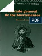 Tratado General de Los Sacramentos -Ramon Arnau