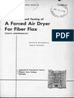 A Forced Air Dryer for Fiber Flax