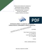 Naturaleza Jurídica y Alcance Del Contrato de Transacción en El Ordenamiento Jurídico Venezolano - 3501-09-03160