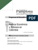 Politica Economica y Pobreza en Colombia
