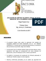 APLICACIÓN DEL MÉTODO TALADROS LARGOS, EN VETAS ANGOSTAS  EN LA CIA MINERA CASAPALCA S. A.