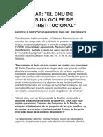 BARCESAT-El DNU de Macri Es Un Golpe de Estado Institucional