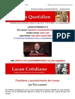 Populismo y Acontecimiento de Cuerpo Laurent LC-cero-694