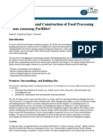 Sanitary Design and Construction of Food Processing and Handling Facilities