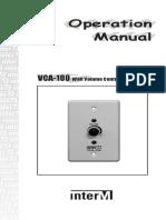 Vca-100 Manual e