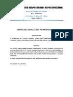 Certificado Carlos Andres