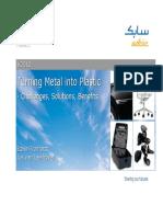 SABIC Innovative Plastics-Metal Replacement Presentation