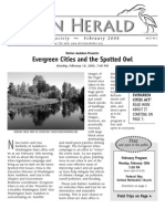 February 2008 Heron Herald Newsletter Rainier Audubon Society