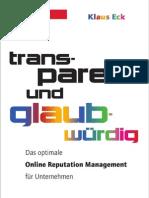 """Leseprobe von """"Transparent und glaubwürdig"""" - August 2010"""