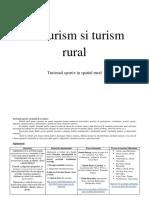 Turismul Sportiv in Spatiul Rural