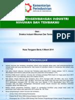 Direktorat Industri Minuman Dan Tembakau - Rakor Industri Agro - Lombok - 2014
