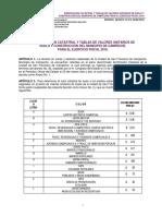 Zonificacion Catastral y Tablas de Valores Unitarios de Campeche 2016