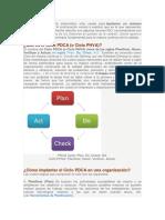 El Ciclo PDCA Es La Sistemática Más Usada Para