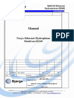 User Manual for Naxys Ethernet Hydrophone Model 02345 Manual- February 2008