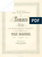 Draeseke Romanze for Horn and Piano Op.32