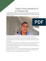 Correa Se Desafilia de Alianza Pais