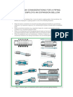 Salient Design Considerations for a Piping System That Employs an Expansion Bellow