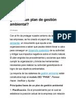 ¿Qué Es Un Plan de Gestión Ambiental?
