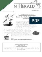December 2008 Heron Herald Newsletter Rainier Audubon Society
