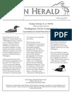 February 2009 Heron Herald Newsletter Rainier Audubon Society