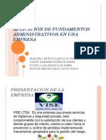 Aplicación de Fundamentos Administrativos en Una Empresa