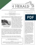 April 2009 Heron Herald Newsletter Rainier Audubon Society
