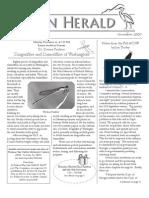 November 2009 Heron Herald Newsletter Rainier Audubon Society