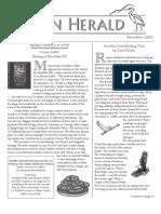 December 2009 Heron Herald Newsletter Rainier Audubon Society