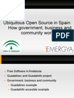 Ubiquitous Open Source in Spain