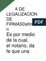 Acta de Legalizacion de Firmasdefinición