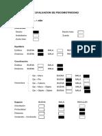 Ficha de Evaluacion de Psicomotricidad - Crecimiento y Desarrollo