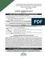 Fundep Gestao de Concursos 2017 Crm Mg Agente Administrativo Prova
