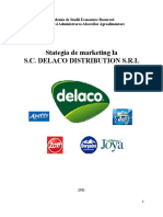 Stategia de Marketing La SC Delaco Distribution SRL