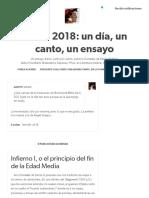 Dante 2018_ un día, un canto, un ensayo — ¿Qué opinas de la traducción de Bartolomé Mitre de.
