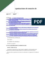 Ley de Organizaciones de Usuarios de Agua - Ley 30157