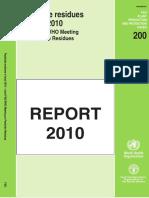 JMPR 2010 Contents